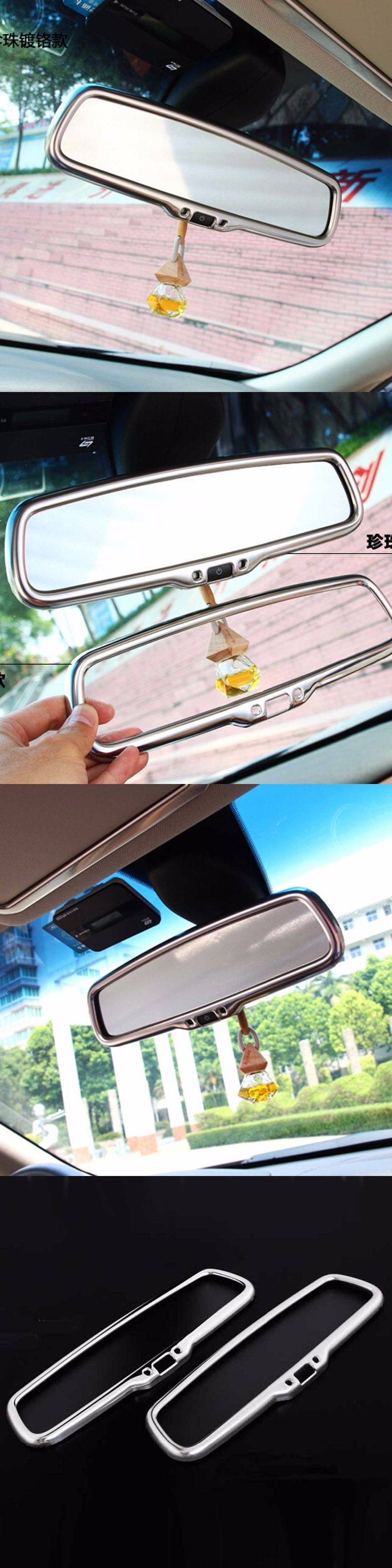 interior accessories for infiniti Q50 QX50 QX60 QX70 EX driver front roof rear view mirror decorative cover sticker trim frame