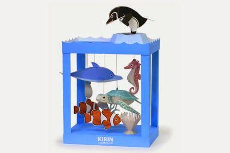Una preciosa escena marina  para tus niños.   Haz click aquí para descargar el imprimible de los peces.   Haz click aquí para descargar el ...