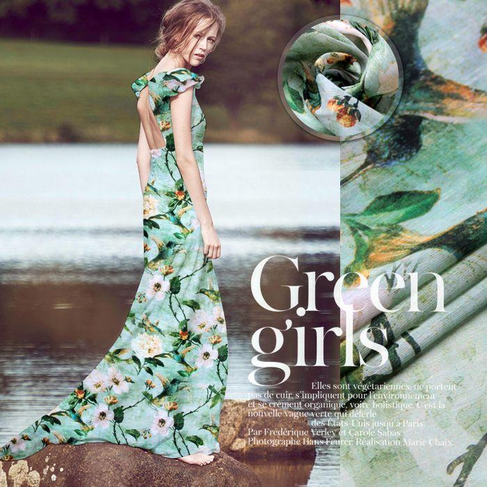 Zielone kwiaty drukowane pościel jedwabna tkanina sukni cheongsam druku jedwabiu konopi w wielofunkcyjny: można używać na ubrania, sukienka, spódnica, pościel, strój wieczorowy, moda przedmiotyekologiczny mater od Tkaniny na Aliexpress.com   Grupa Alibaba