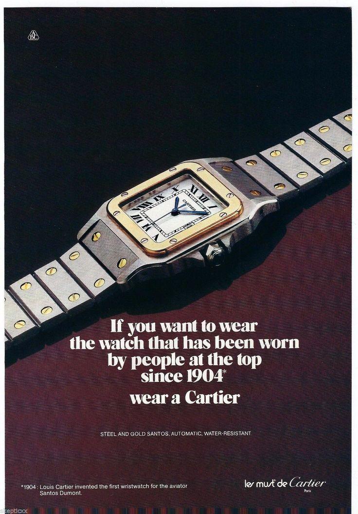1983 Cartier Santos Watch Vintage Print Ad Page Photo. #cartier #santos #vintage #watch #ads #ad #watches #stawc