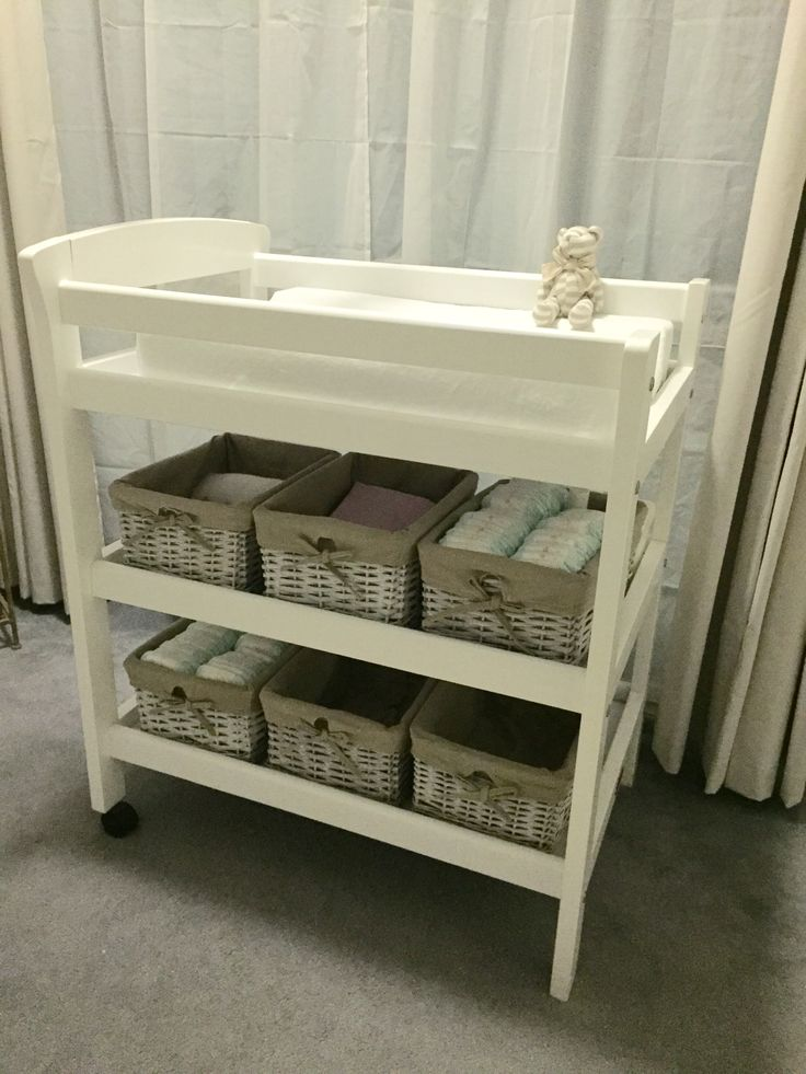 Love n Care Changer table with rustic baskets from kmart australia