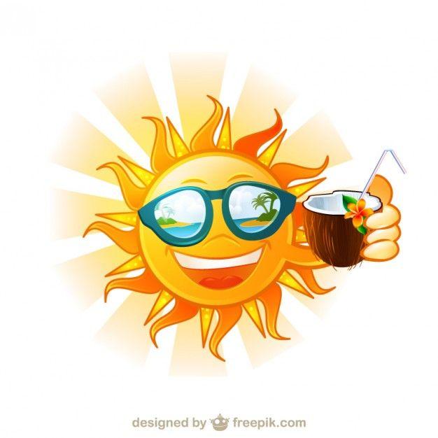 Divertido sol tropical isla de dibujos animados | Descargar ...