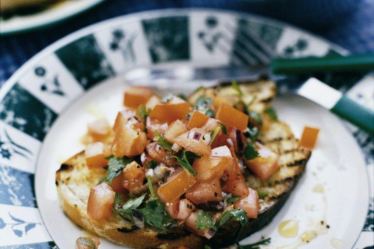 Recept från Zeta. tomatbruschetta_med_citron_och_koriander