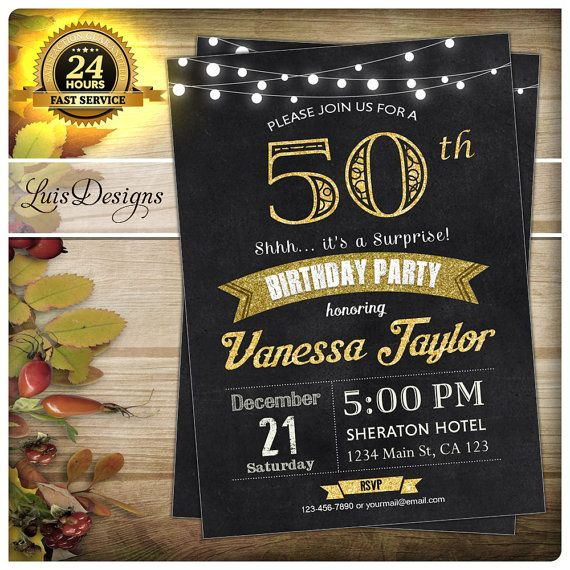 7 best 50th birthday invitation black suit birthday party gold glam by luisdesigns find this pin and more on 50th birthday invitation black filmwisefo Images