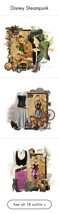 """""""Disney Steampunk"""" by rubytyra ❤ liked on Polyvore"""