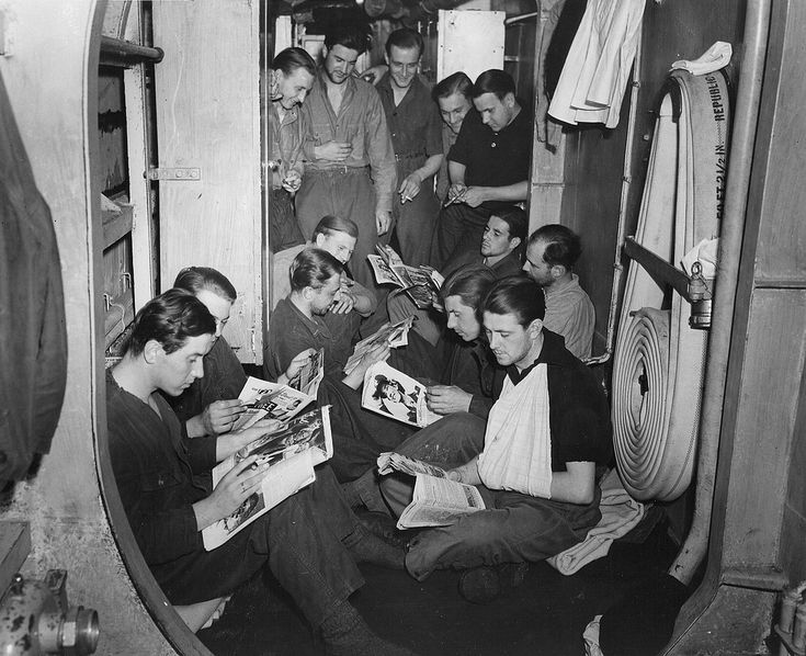 "1943 German POWs marine U-175 aboard the USCGC ""Spencer"" After receiving basic training in Stettin in Germany in the 4th U-boat Flotilla until 31 August 1942, he joined his battle fleet to the submarine base of Lorient in France in the 10th U-boat Flotilla."