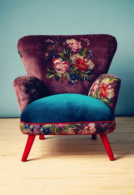 pretty. I think this is how I'm going to make over one of my chairs