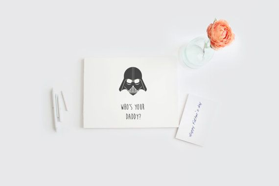 Star Wars Father's Day card DIY printable by Papierscharmants