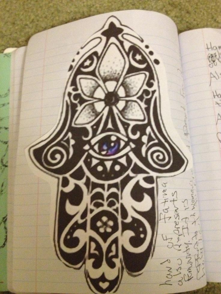 Hamsa hand of fatima hand of mary tattoo pinterest for Hand of fatima tattoo