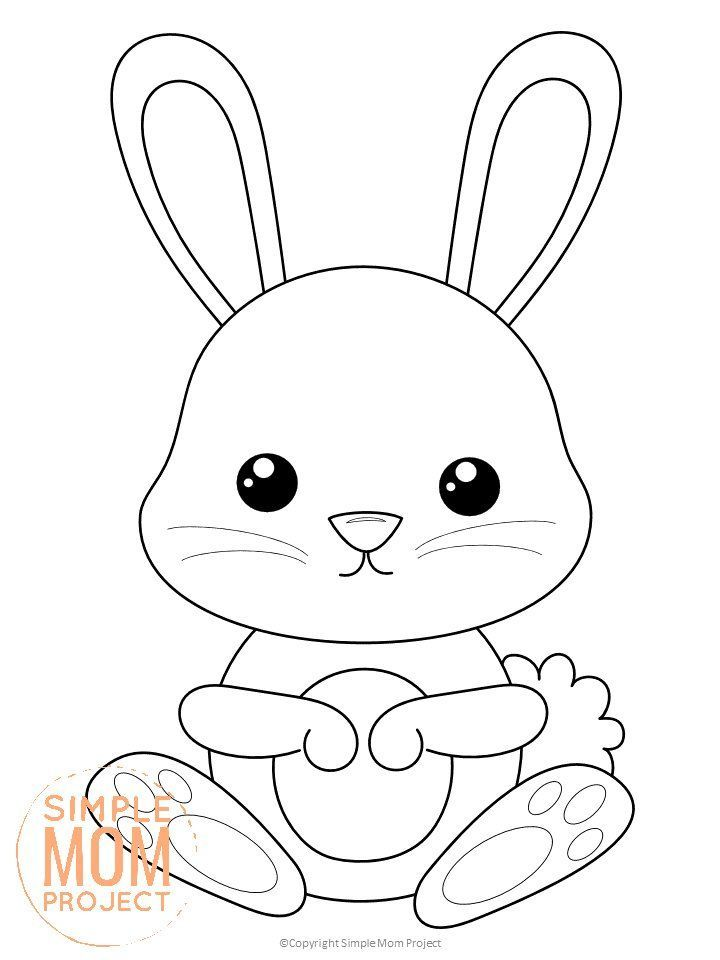 Free Printable Forest Rabbit Coloring Page Animal Coloring Books Rabbit Colors Toddler Coloring Book