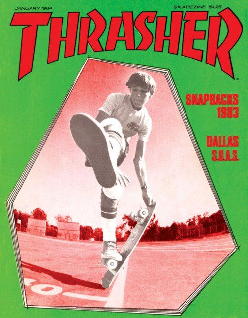 Rodney Mullen on the cover of Thrasher Magazine (1984)