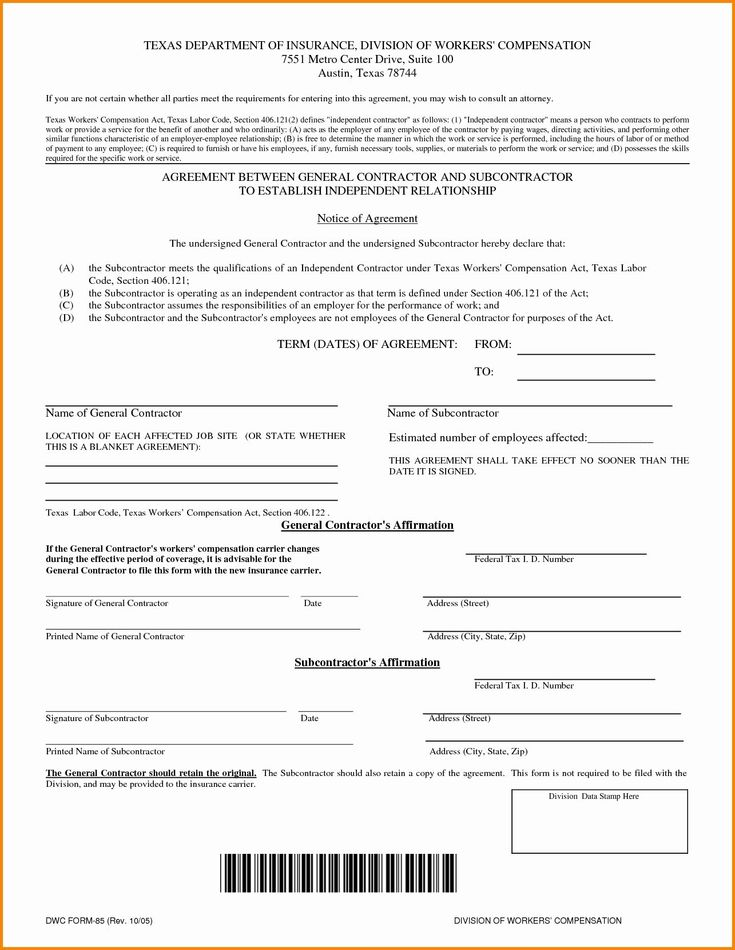 Contractor insurance requirements template one checklist
