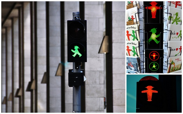 Berlin's little traffic light symbol created by a traffic psychologist! as pedestrians react more quickly to appealing symbols...