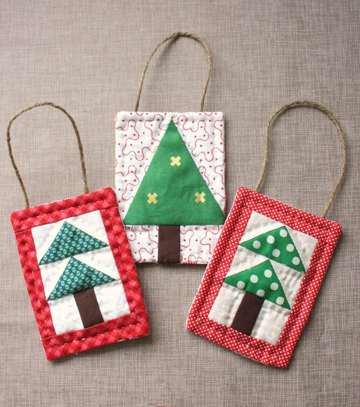 Mini Christmas Tree Quilt Ornament Tutorial Diary Of A Quilter A Quilt Blog Quilted Christmas Ornaments Christmas Sewing Projects Sewn Christmas Ornaments