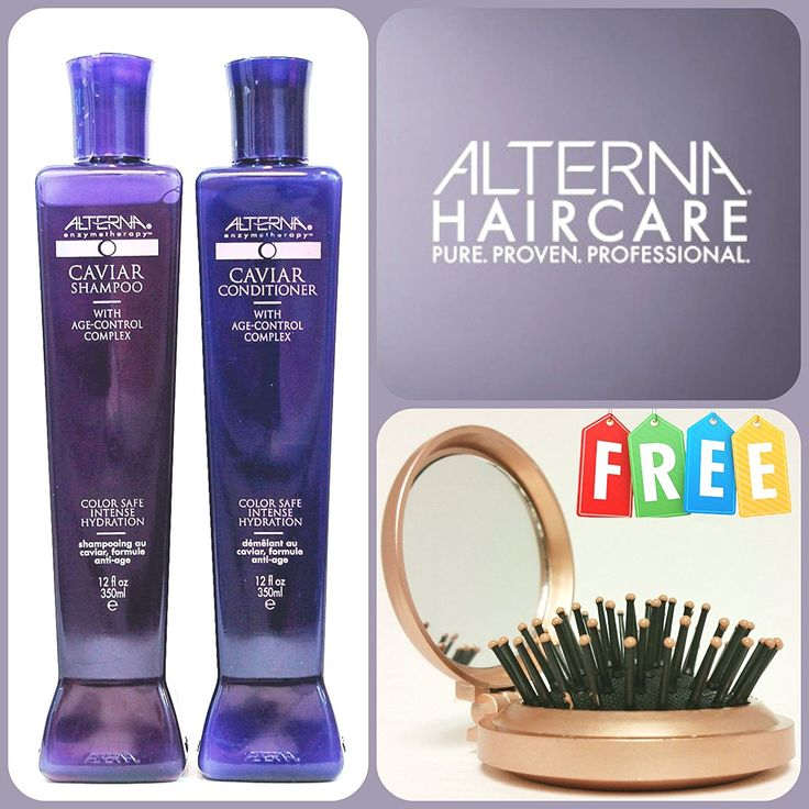 Alterna Caviar Shampoo and Conditioner 12oz w/ Age-Control Complex   FREE Paul Mitchell Rose Gold Portable Mirror Brush *** Continue with the details at the image link. #hairdresser