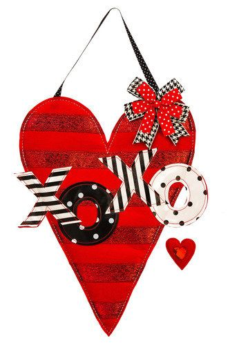 This beautifully embellished Valentine's Day themed door hanger will bring some fashionable fun to your front door décor for February.