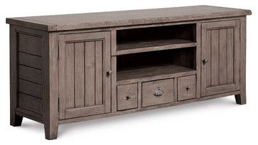 Coastal Solid Wood TV Media Console beach style media storage