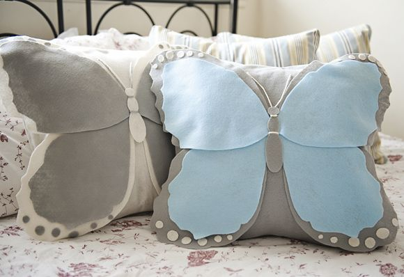 DIY Felt Butterfly Pillow