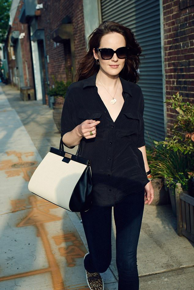 Out and about: Michelle Dockery was spotted out and about in New York City on Sunday...