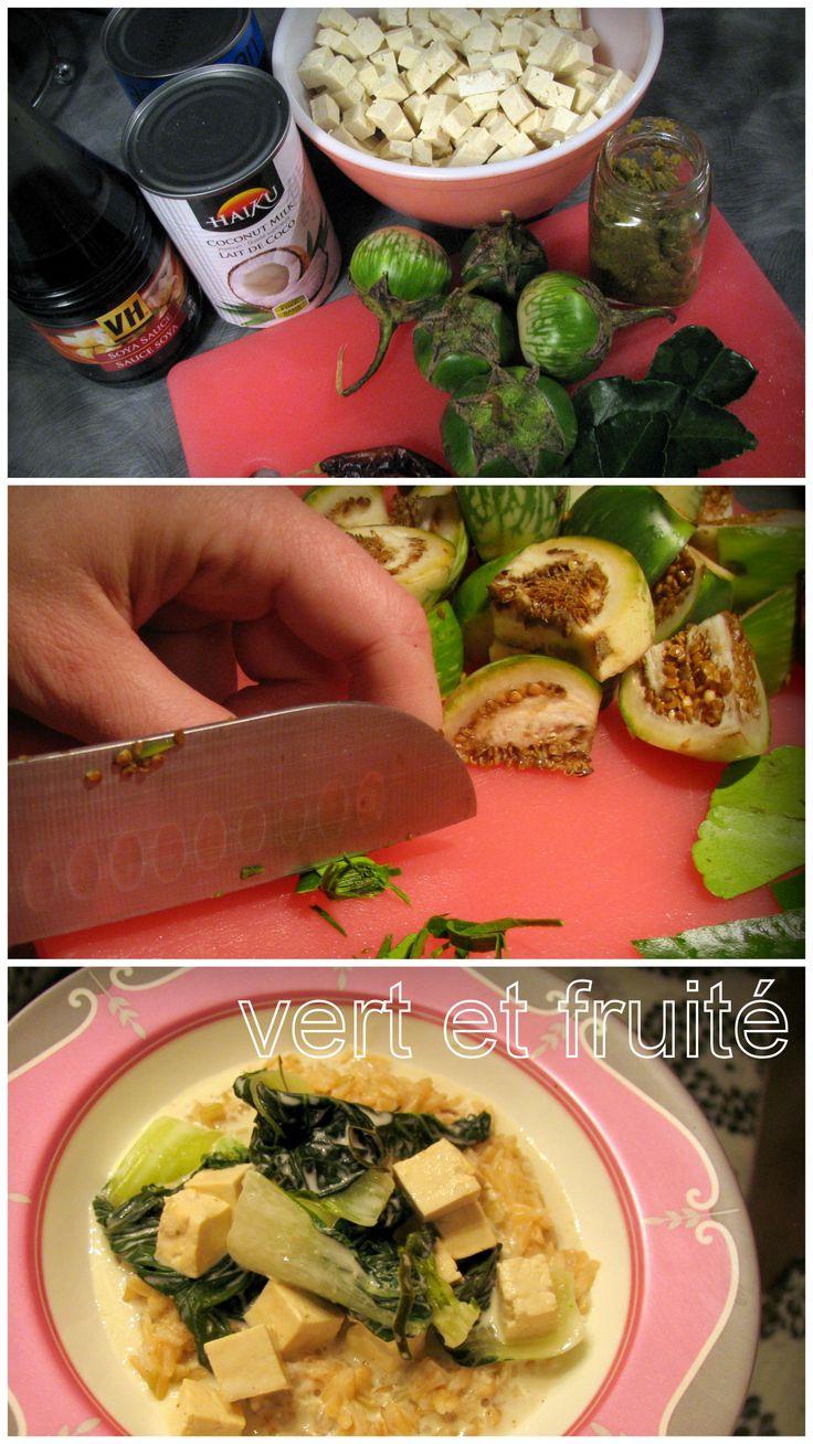 Soupe thaï au coco et au cari vert #sansgluten #vegan http://vertetfruite.com/soupe-thai/