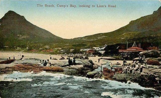 Posted by Martin Greshoff  to ‎Cape Town Down Memory Lane. The beach, Camp's Bay, looking to Lion's Head.