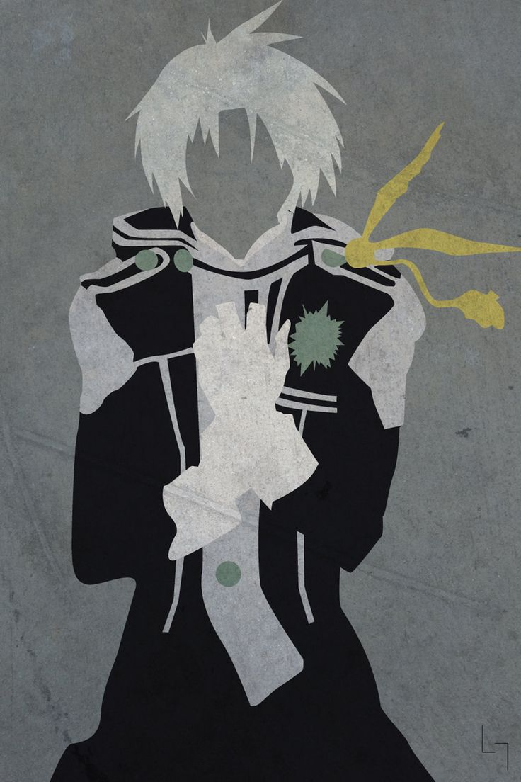 Allen Walker: D.Gray-Man - 19 Anime Characters Transformed Into Minimalistic Art