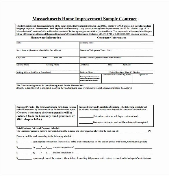 Free Remodeling Contract Template 2020 Contract Template