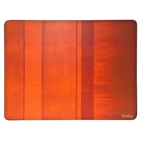Denby Denby set of four orange placemats- at Debenhams.com