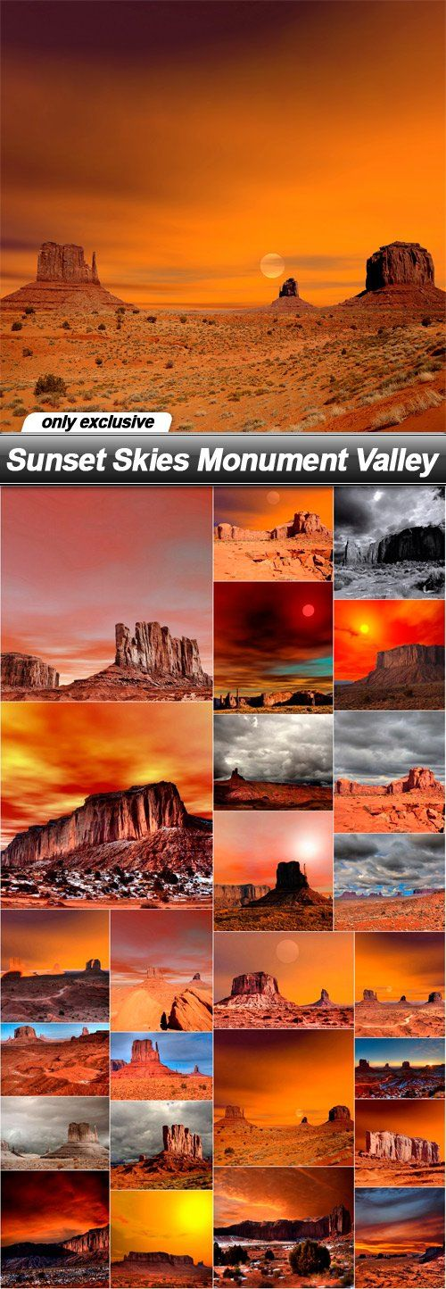 Sunset Skies Monument Valley - 25 UHQ JPEG