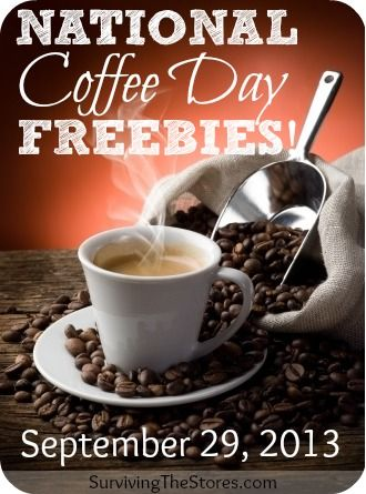There are LOTS of freebies for National Coffee Day this year!  Krispy Kreme, Starbucks, Caribou Coffee & many more companies are participating in promotions!