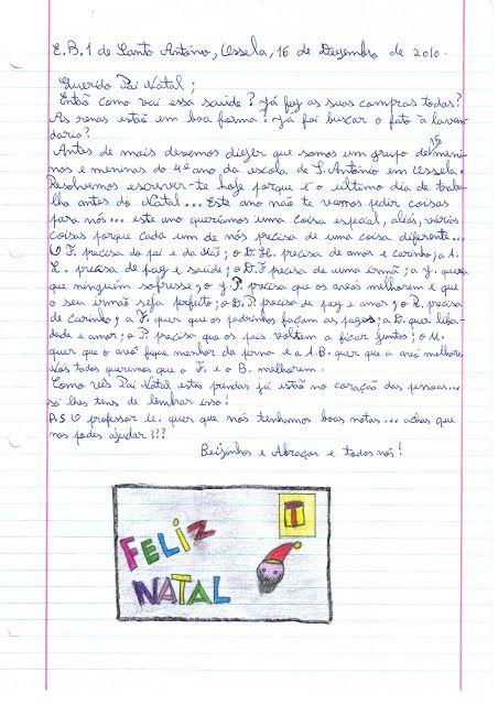 EB 1 Santo António de Ossela: Carta ao Pai Natal da turma do 4º ano