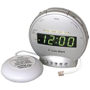 Sonic Alert Sonic Bomb Alarm Clock With Telephone Signaler Amp Super Shaker