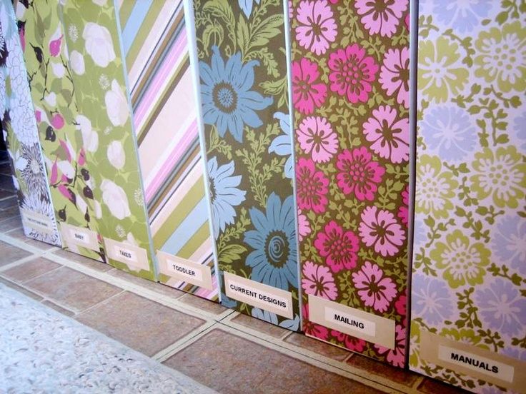 The Cottage Home: Pretty Scrapbook Paper Covered Magazine File ~ Tutorial  This one uses cardboard magazine files, and scrapbook papers.