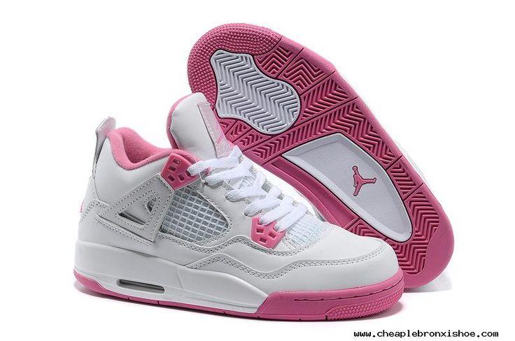 huge discount 7ed45 40e48 ... Cheap Jordans Basketball Shoes Womens Nike Air Jordan 4 Retro White ...