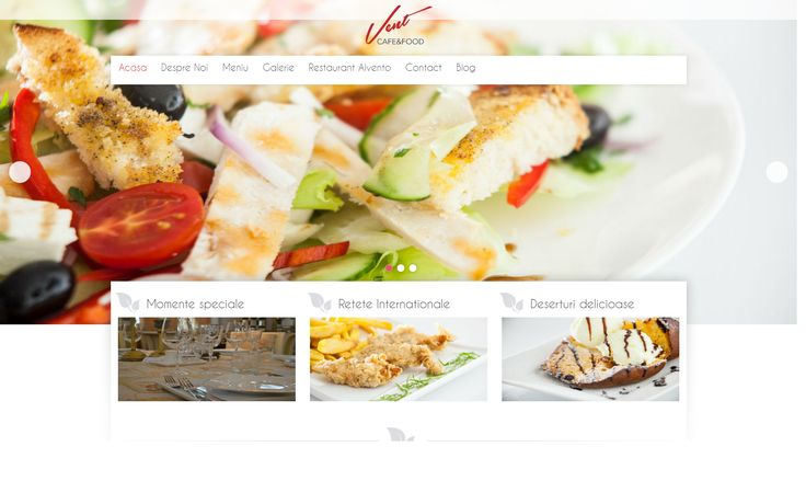 Our team designed the website for brand new opened restaurant VentCafe http://ventcafe.ro/