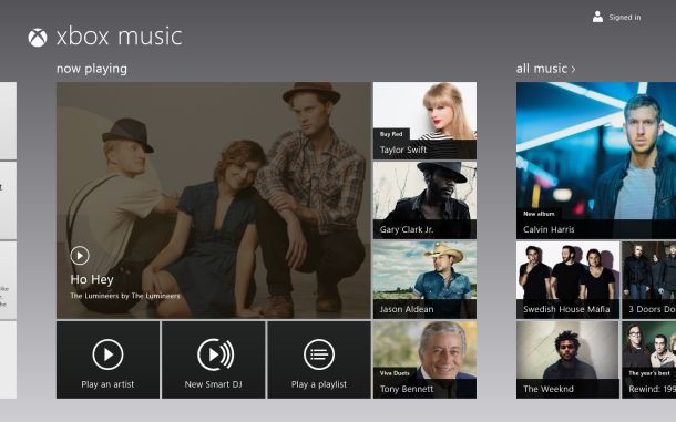 Free Streaming Xbox Music on Windows 8