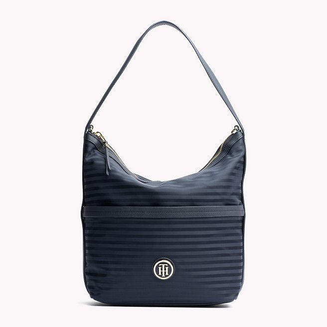 Tommy Hilfiger Striped Jacquard Hobo - midnight (Blue) - Tommy Hilfiger Hobo Bags - main image