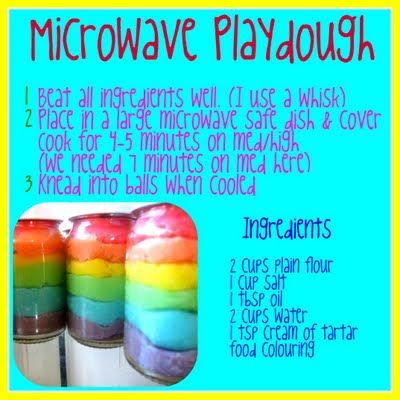 A way to let the bigger kids help in making playdough: Kids Stuff, Microwave Playdough, Plays, Fun, Play Dough, Kid Stuff, Craft Ideas, Crafts