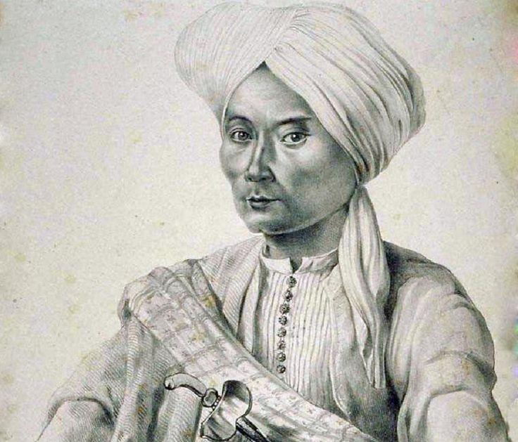Lukisan potret Pangeran Diponegoro karya A.J. Bik, 1830. Foto: geheugenvannederland.nl.