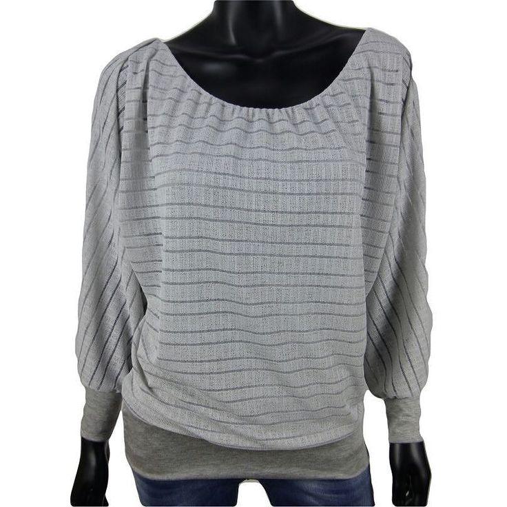 Gestreepte top met vlindermouwen in grijs  15-  Shop ook online: www.dannyschoice.nl  #Beverwijk #fashion