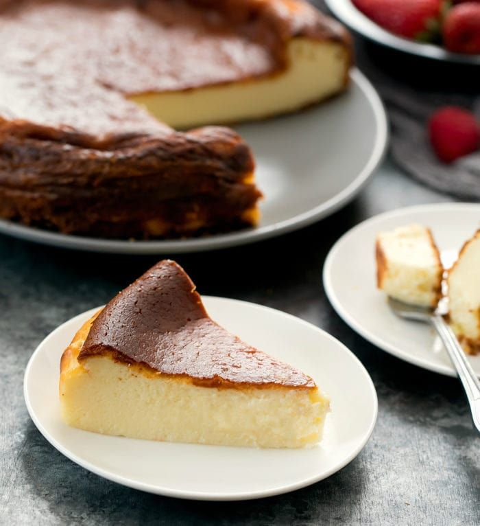 Basque Burnt Cheesecake Recipe Cheesecake Springform Pan Cake Cheesecake Recipes
