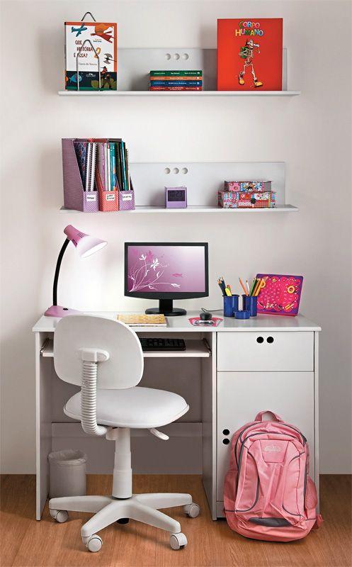 Inspirações para a área ou o quarto de estudos da garotada.