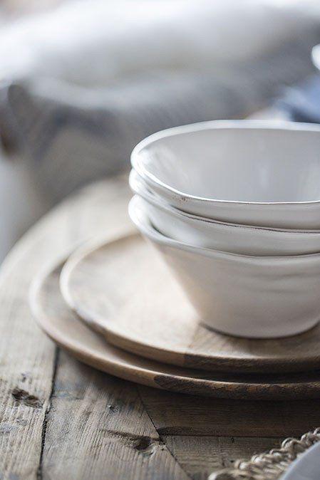 Beautiful white Primitif cereal bowl