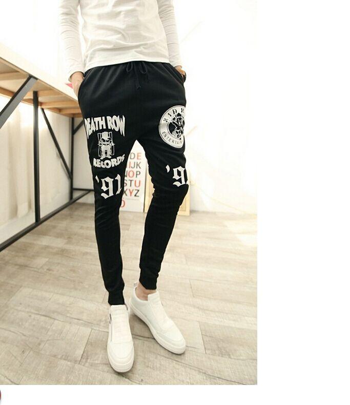 Hot Baggy tapered pant hip hop dance harem sweatpants drop crotch pants men parkour  track trousers