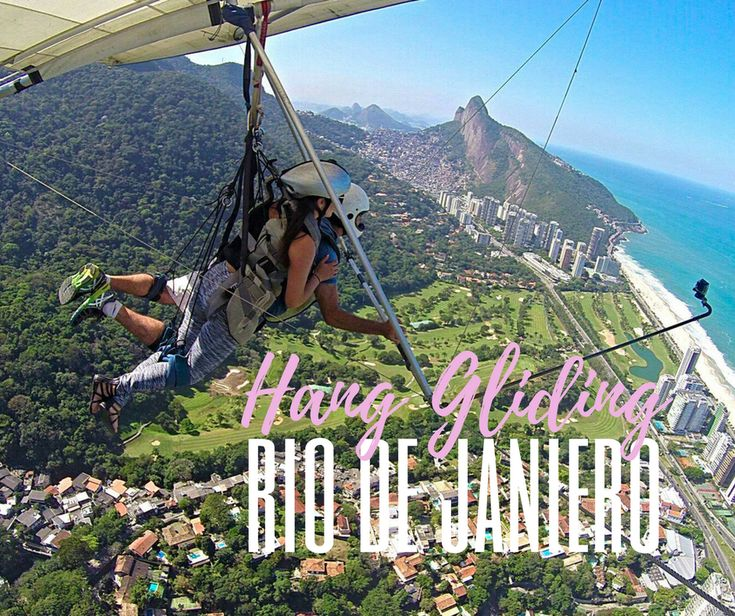 Hang Gliding: Rio De Janerio |   A rush of adrenaline is all you need... hang gliding is the perfect alternative to some other extreme sports. Just don't do it hungover like I did! | http://bonvoyagebitches.com