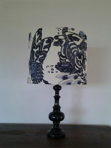 New delfts blue table lamps at RZID. Lamp shades by Northcoastlampshades. www.rzid.com.au