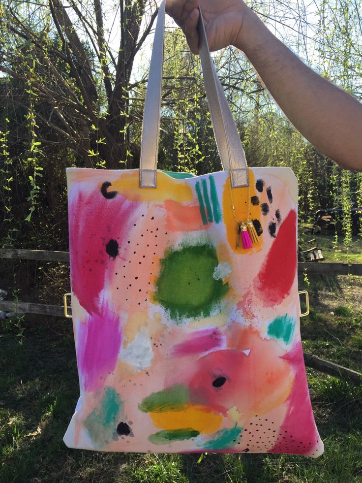A personal favorite from my Etsy shop https://www.etsy.com/listing/286216651/summer-expression-painted-tote