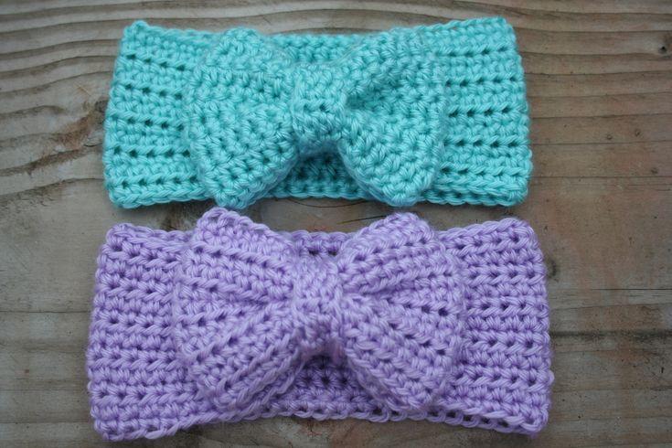 Modern Crochet Bow Headband By Rachel - Free Crochet Pattern - (farmerssister.wordpress)