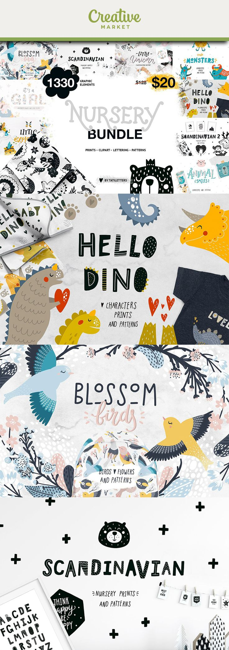 Ad | Included 9 of my favorite collections♥️with over1330elements, patterns, cute animals, stickers, alphabet, printable art and lettering!This set is just what you need for the children's clothing, nursery wall art, products for kids and room decor.This bundle is perfect for Owner's of Kid-Focused Business, Crafters and just cute addition to a nursery or playroom!