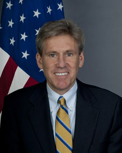 U.S. Ambassador to Syria who died during the attack on the Benghazi consulate on September 11, 2012. http://www.obitoftheday.com/post/31398300532/chrisstevens